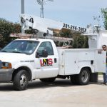 LMS Electrical Bucket Truck and Electrician